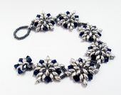 Star Flower Bracelet with Super Duo Jewellery Kit with SWAROVSKI